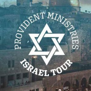 image of building in Israel, with the Star of David with the words provident ministry Israel tour